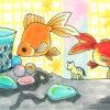 春! 金魚水槽 の レイアウト に おすすめな小物たち! ~金魚素人育成記11~