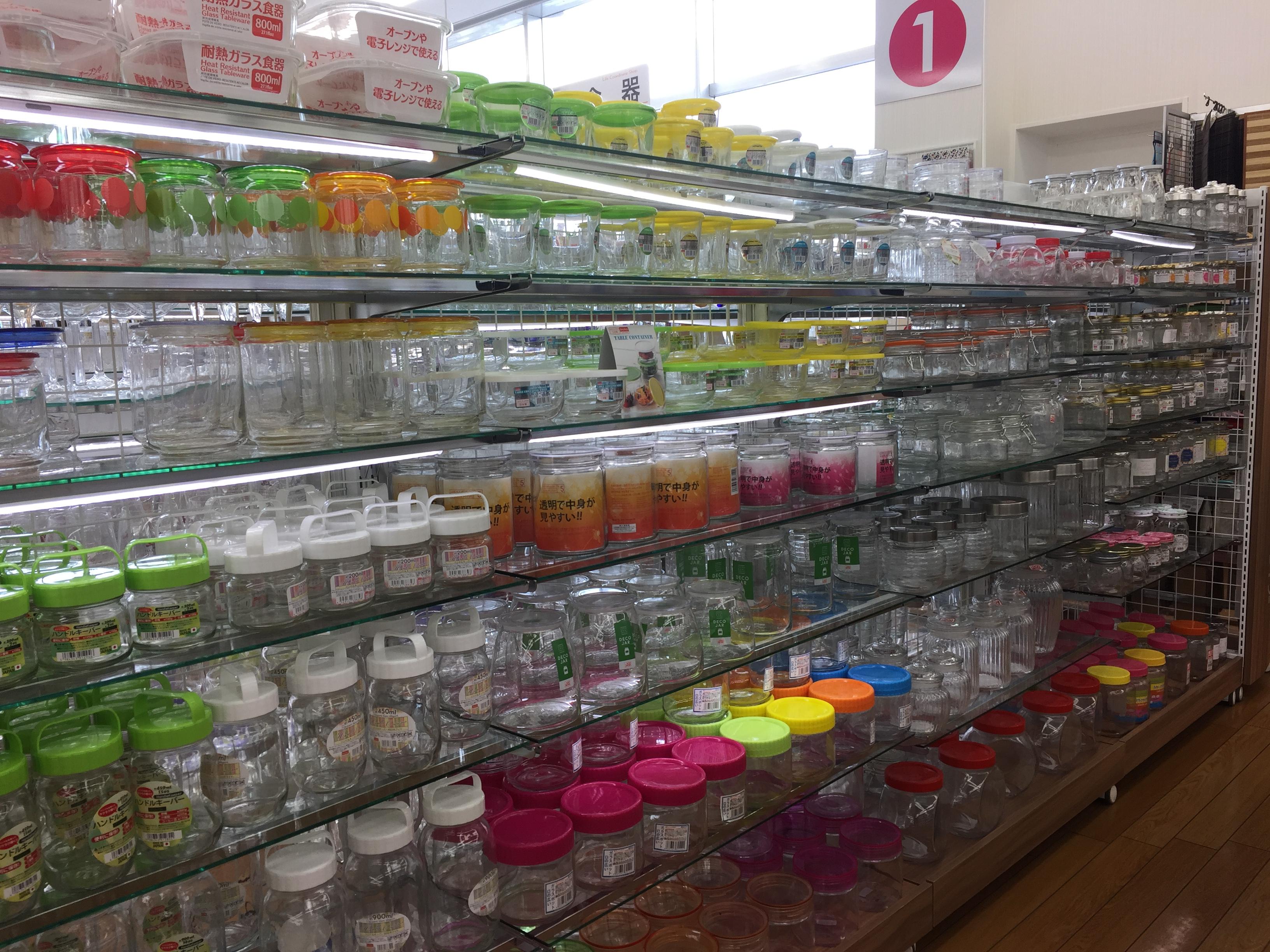100円ショップの透明なガラス容器