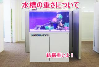 熱帯魚水槽の重さと、床の耐荷重について