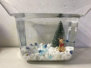 100均で作る金魚水槽レイアウト~クリスマス編~