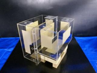 【オーダーメイド実験用水槽】アクリル製2分割水槽