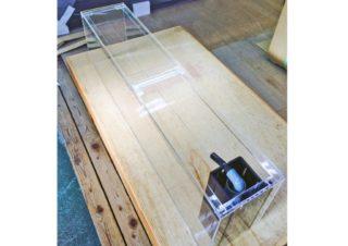 【オーダーメイドアクリル水槽】オーバーフロー・コの字加工付きスリム水槽