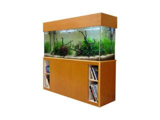 本棚と水槽台を合体!収納付き水槽台はオーダーメイドで実現可能!