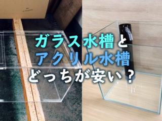 ガラス水槽とアクリル水槽どっちが安い?重さは?大きさと板厚と価格の関係