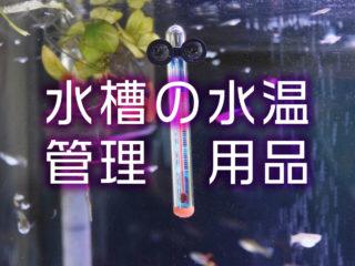 水温管理用品特集!アクアリウムに必要な水温計・保温器具をご紹介します