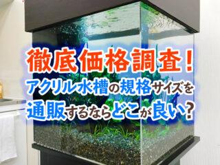 【徹底価格調査】アクリル水槽の規格サイズを通販で購入するならどこが良い?