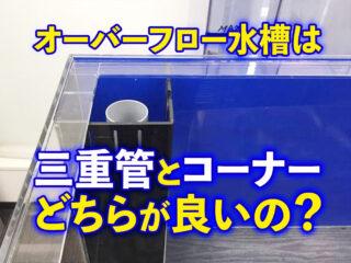 オーバーフロー水槽は三重管とコーナーのどちらが良いの?ピストルも解説
